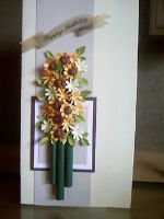 Handmade Card - Sunflower by dipti1989