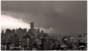Storm Approaching World Trade Center May 2001 by steeber