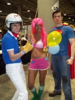 Pinkie Speedracer and Superman by xAleux