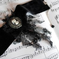 Black Velvet Gothic Choker by RagDolliesMadhouse