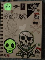 sketchbook page 29 - glow in the dark by lonesomeaesthetic