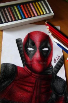 Deadpool | Speed Drawing (Video) by JR-Julia