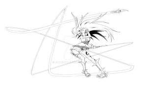 Wild Female Warrior by Pencil-this