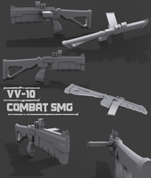 VV-10 Combat SMG LowPoly by themadgrenadier99