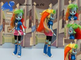 Custom Equestria girls Rainbow Dash by ShiveringCanvas