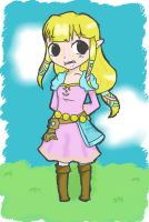 Toon SS Zelda by mintgold-sky