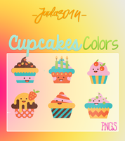 Colors Cupcakes - Png's by Juula3014