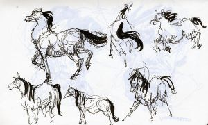 Horse Gestures by ronaika