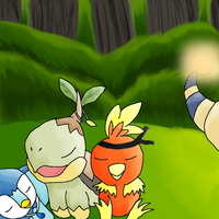 Torchic, Turtwig and Piplup by Derial-T