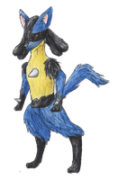Lucario by bubblewrap-pancakes