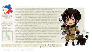 APH: Philippines Profile Sheet by AnimeFan2006