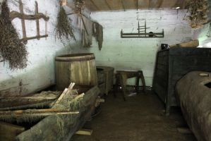 Old cottage house interior 01 by Caltha-stock