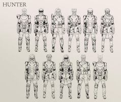 Destiny HUNTER character concepts 01 by SchneeKatze09