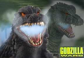 The Godzilla Wars wallpaper Now and Then by TheSpiderAdventurer