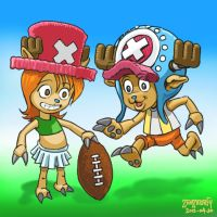 Nami and Chopper playing 2 by zenzmurfy
