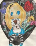Alice and the Flowers by GothontheMacabre