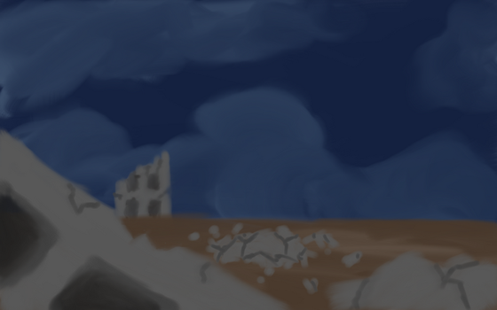 Unfinished scenery picture by VixenVal