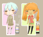 [OPEN] LOWERED SET PRICE Adoptables Batch 01 by Juuni-Adopts