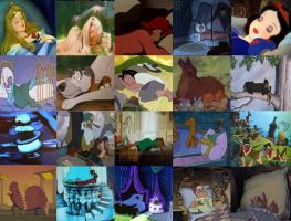 Disney Sleeping in Movies Part 1 by dramamasks22