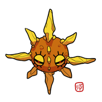 December PKMN Challenge Day 6: Solrock by Koukouvayia