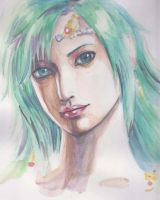 Rydia  in water color by Amanoobaricom