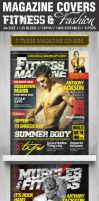 Fashion and Fitness Magazine Cover PSD Templates by ShermanJackson