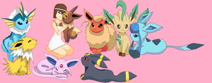 Gem And Eeveelutions by V1EWT1FUL