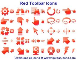 Red Toolbar Icons by shockvideo