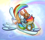 Rainbow Roo by TheDoggyGal