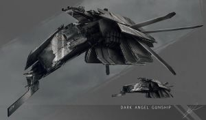 Dark Angel Gunship by AdamBurn