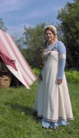 Blue and white Viking dress by Laerad