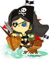 Chibi Pirate by qiaoke