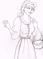 Susan Egan as Belle (sketch) by g-r-e-c-i-a-n