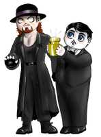 WWE - Chibi Undertaker and Paul Bearer by FuriarossaAndMimma