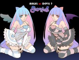 Panty Stocking Garterbelt - Stocking Angel | Devil by rolan666