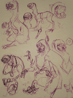 Rough Monster Sketches by Penumbra-Ex