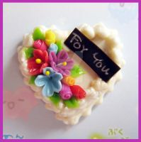 White Cake Magnet by cherryboop