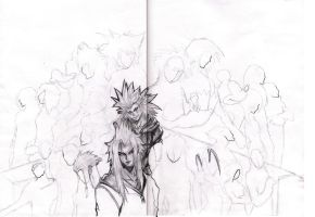 Kingdom Hearts II WIP by nothing111111
