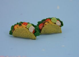 Taco Earrings by kicat