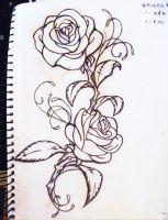 My Roses tattoo by LO-YO