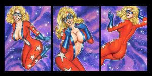 FEMFORCE MS VICTORY PERSONAL SKETCH CARDS FEBRUARY by AHochrein2010