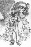 American Vampire Pencils by jimlee00