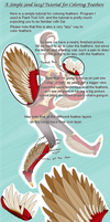 A Simple Tutorial for Coloring Feathers (SAI) by AliceKaninchenbau