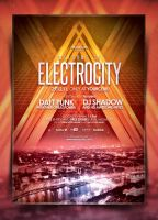 Electro Poster Template Vol. 3 by IndieGround