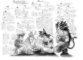 The 4 Sons of Bardock II by Laborde91