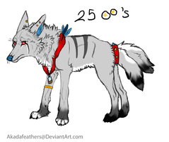 Wolf ADOPT:SOLD by Akadafeathers