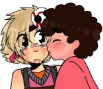 Request: tiny kiss by Crazygalcomics
