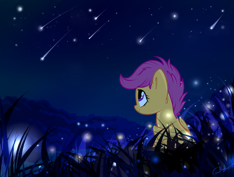Starfall Night by grethzky