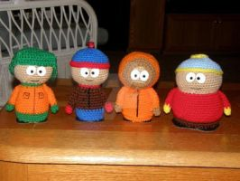 South Park Gang by Evil-Twin-Crochet