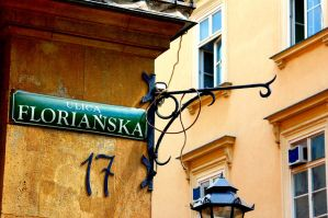 Krakow Street Sign. by johnwaymont